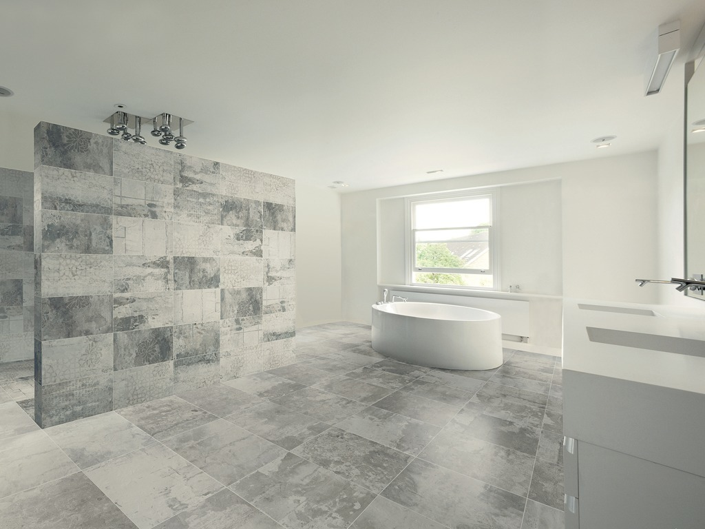 Industrial Effect Tiles - InDesign Showroom London | Kitchens ...