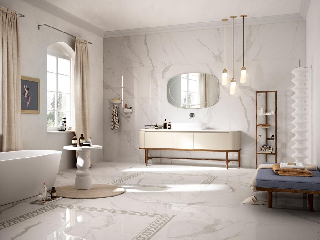 Prestigio Statuario Marble Tile Indesign Showroom London Kitchens Bathrooms
