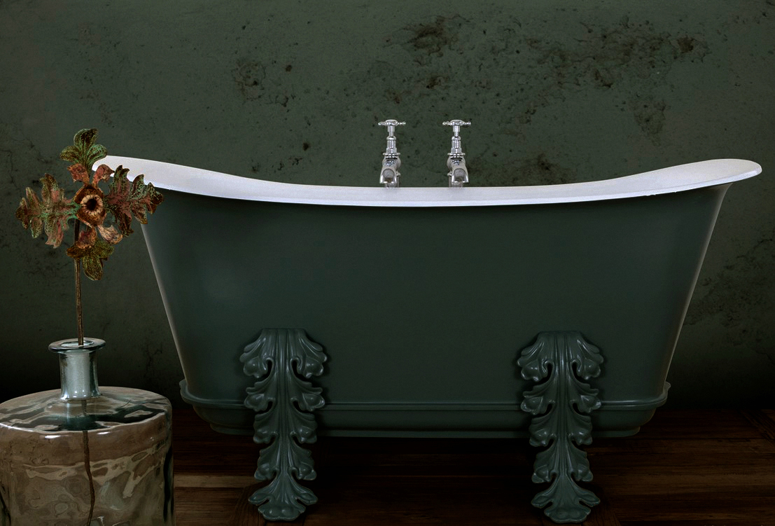 5 - Painted Copper Finish Roll - Acanthus Empire