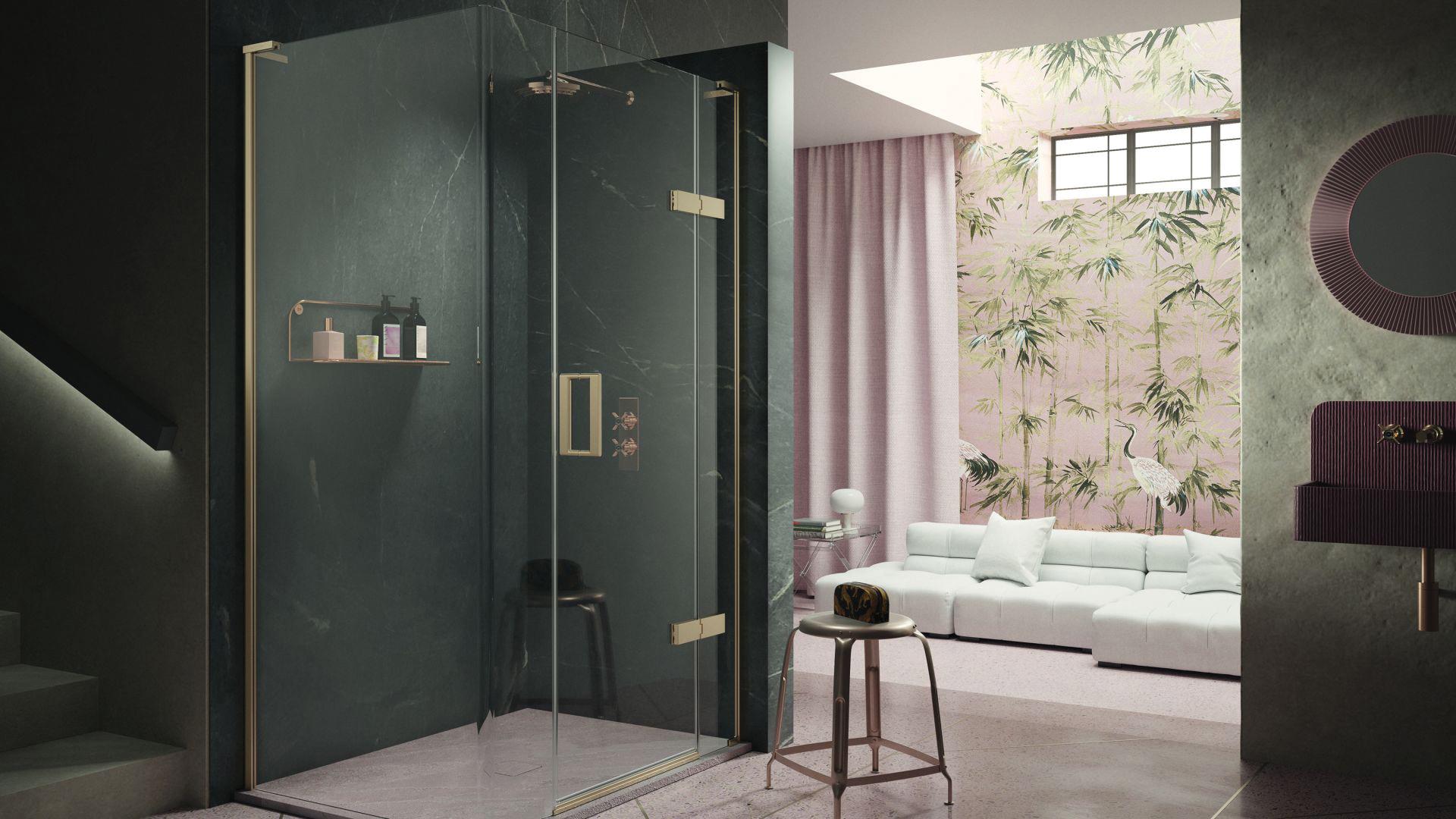 1 - Hinged Door With Hinge Panel And Radius 20 Panel For Corner