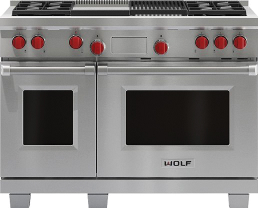 1 - DUAL FUEL RANGE WITH CHARBROILER AND GRIDDLE