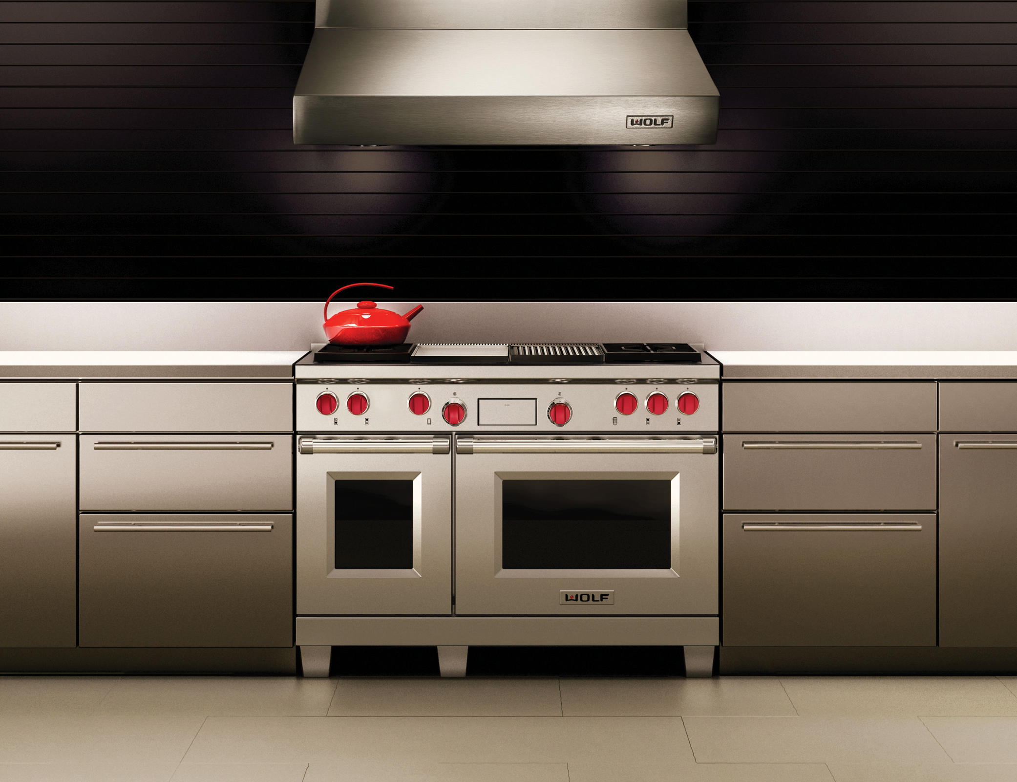 4 - DUAL FUEL RANGE WITH CHARBROILER AND GRIDDLE