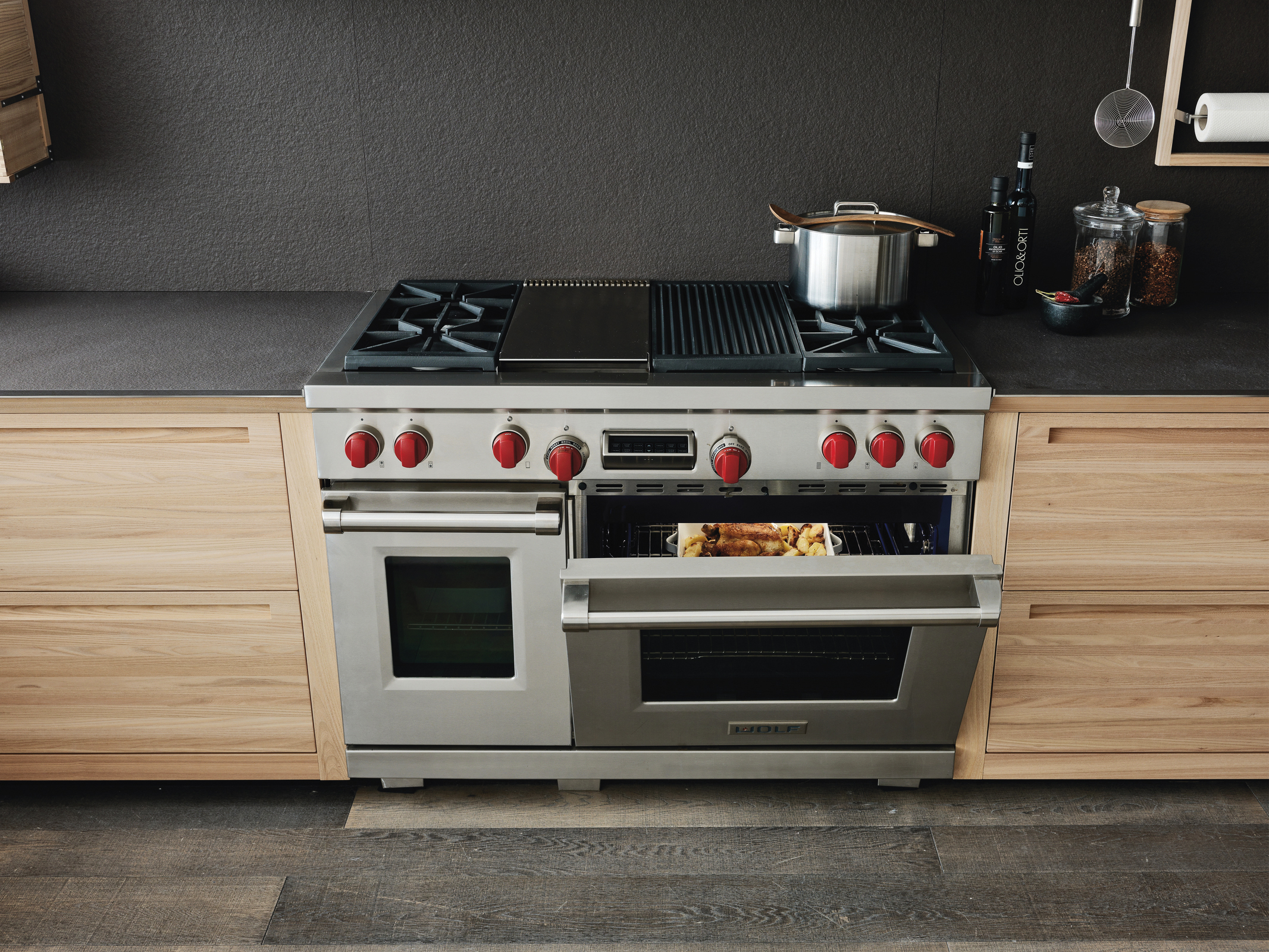 5 - DUAL FUEL RANGE WITH CHARBROILER AND GRIDDLE