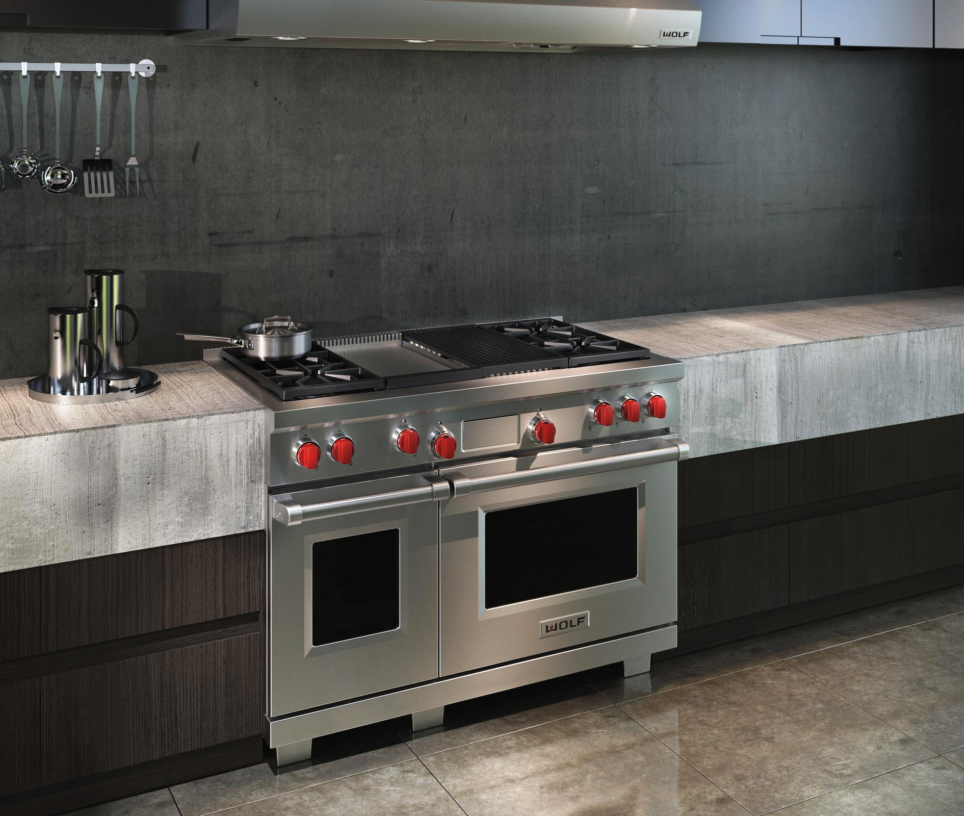 8 - DUAL FUEL RANGE WITH CHARBROILER AND GRIDDLE