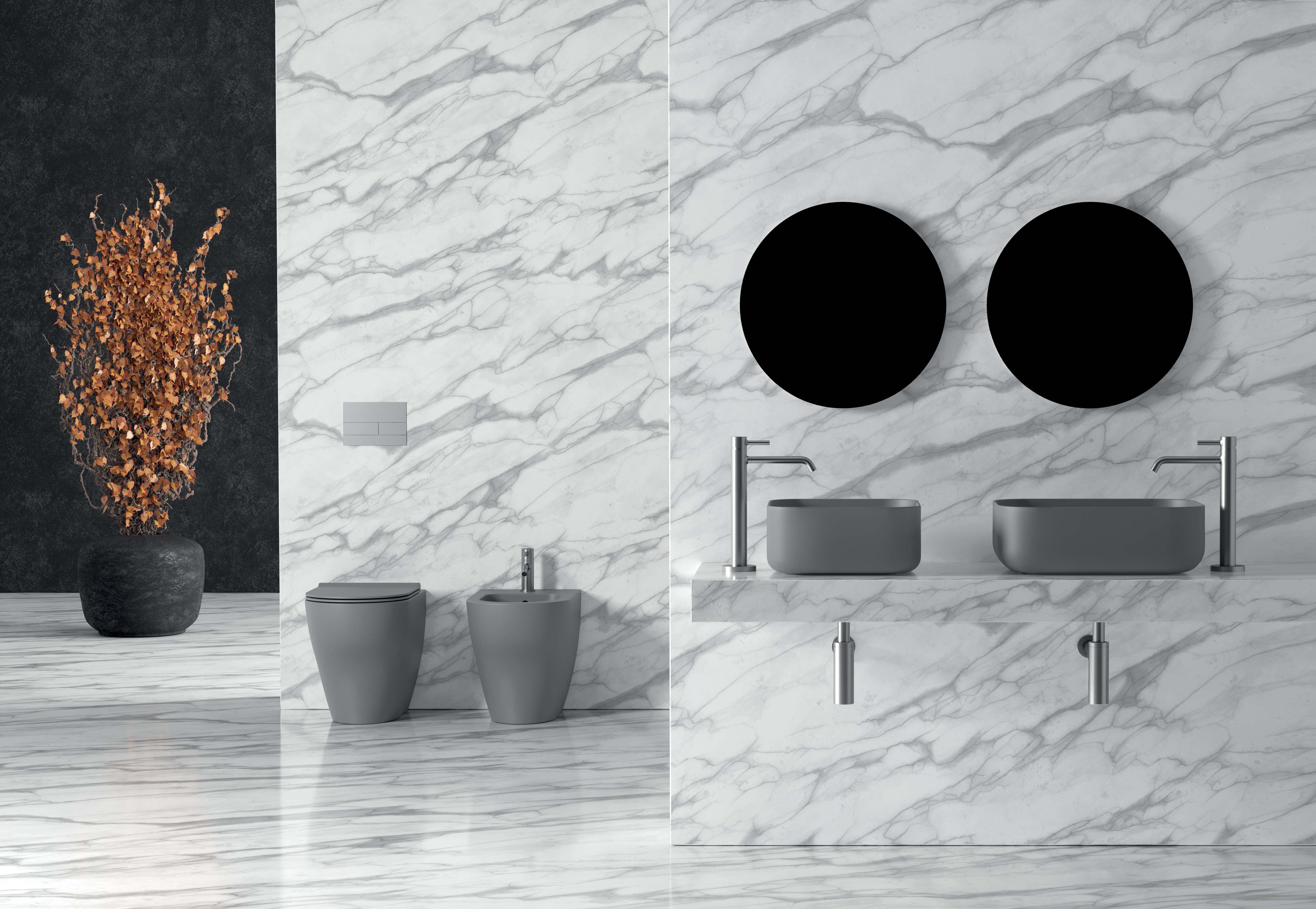 1 - Unica Washbasin 37 × 37cm _ 50 x 37cm