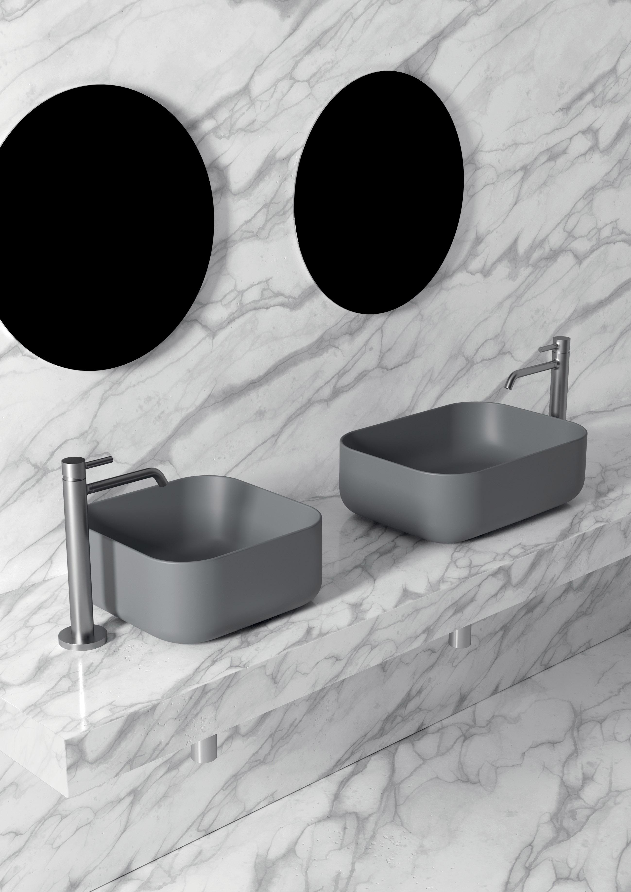 3 - Unica Washbasin 37 × 37cm _ 50 x 37cm