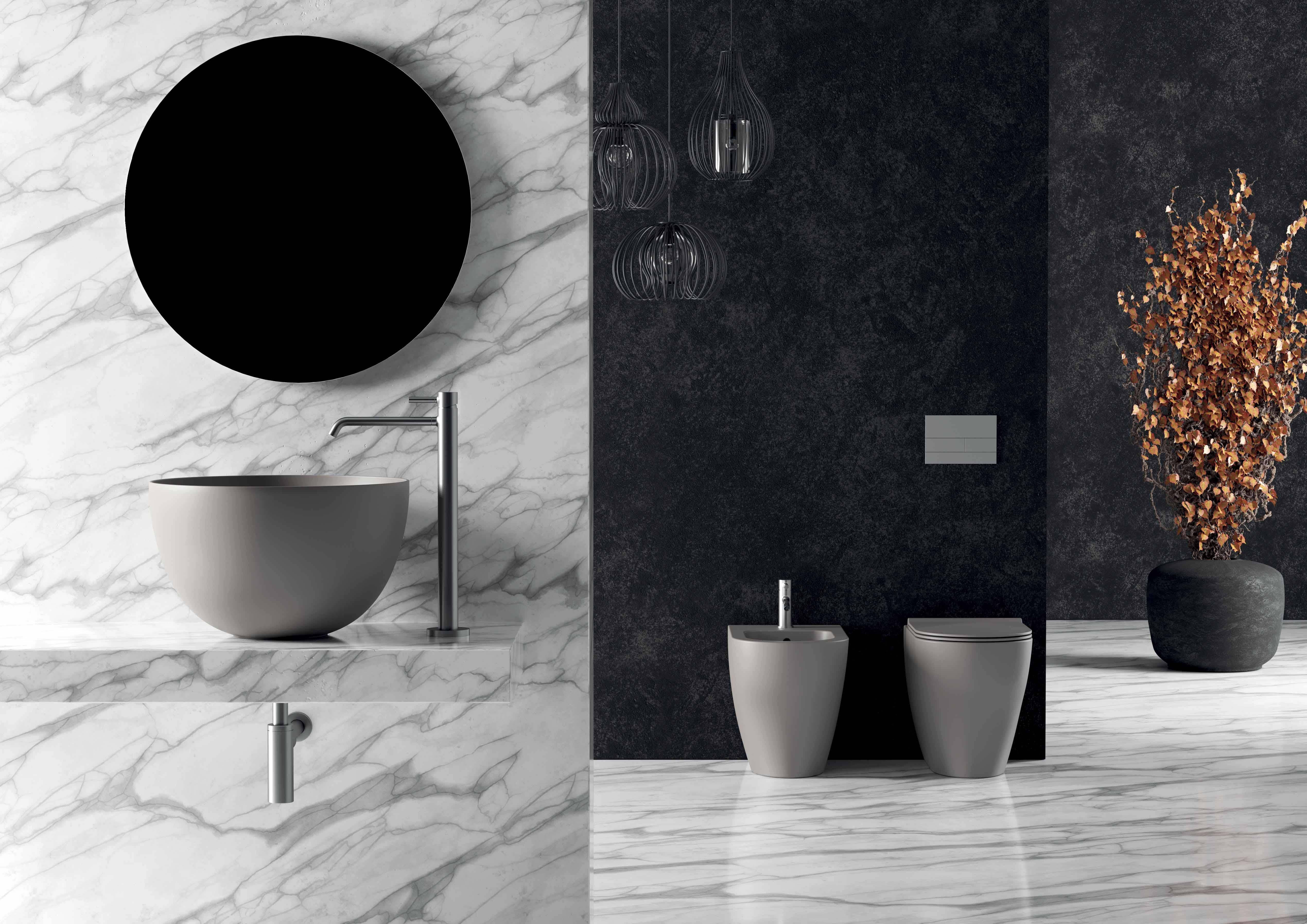 6 - Unica Round Washbasin ø50cm H30