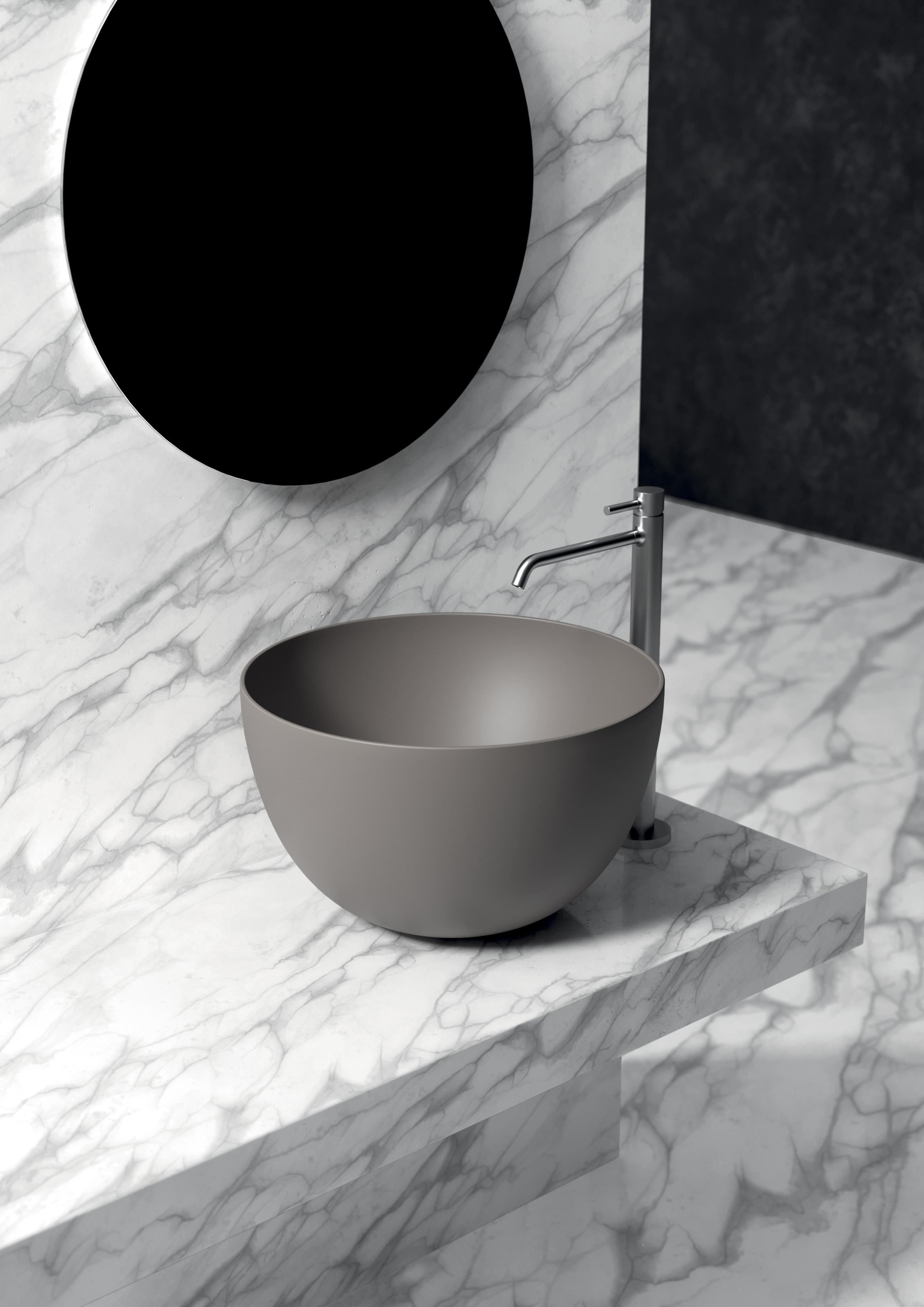 8 - Unica Round Washbasin ø50cm H30
